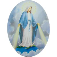 Our Lady of Grace Magnet Glass