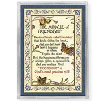 Miracle of Friendship Acrylic Easel with Magnet