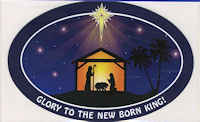 Glory to the New Born King Auto Magnet