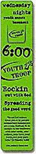 Custom Laminated Church Bookmark