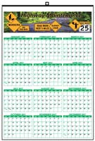 Year at A Glance Wall Calendar-Full-color Custom Imprinted