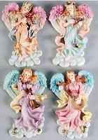 Christmas Music Angel Magnets - Set of 4