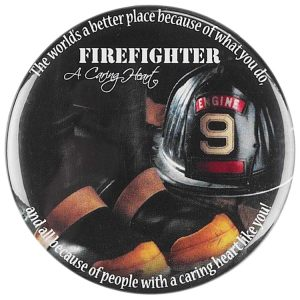 Firefighter Magnet A Caring Heart