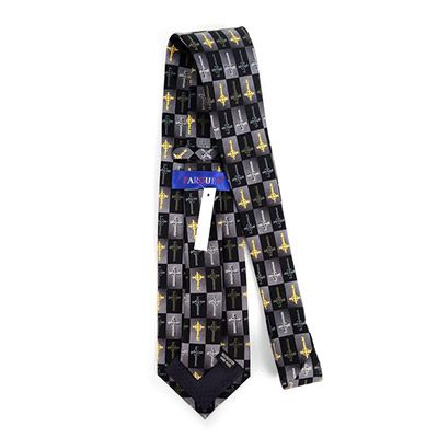CEltic Cross Tie Black and gray