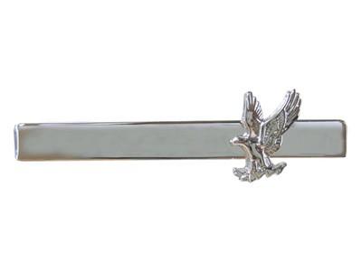 Men's Silver Tie Bar with Eagle