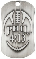 Pewter Football Dog Tag