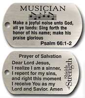 Musician's Dog Tag Joyful Sound