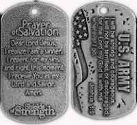 U.S. Army Antique Dog Tag Joshua 1:9 Christian