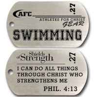 Swimming Christian Dog Tag Unisex