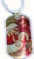 Holy Family Silver Dog Tag Christmas