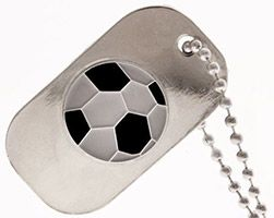 Soccer Dog Tag, Never Give Up