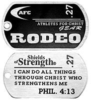 Rodeo Christian Dog Tags