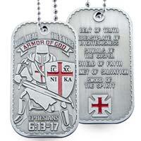 Armor of God Dog Tag