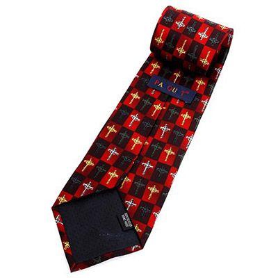 Cross Novelty Tie Red & Black - Back