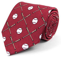 Baseball Novelty Men's Tie