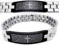 Men's Stainless Steel 2-tone The Lords Prayer Bracelet