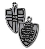Christ Who Loves Me Shield Dog Tag