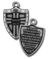 Isaiah 54:17 Shield Dog Tag