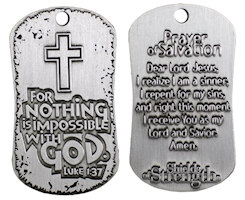 Prayer of Salvation Dog Tag Necklace