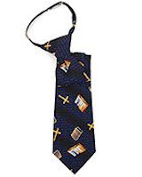Boy's Bible & Cross Zipper Tie