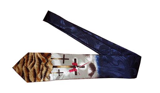 Three Crosses with Star Men's Neck Tie