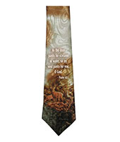Psalm 42:1 As The Deer Men's Neck Tie