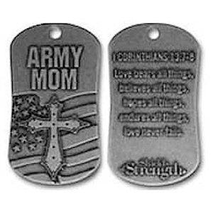Army Mom Dog Tag Necklace