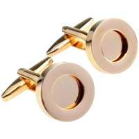 Custom Photo  or Message Gold Cufflinks
