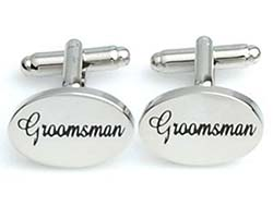 Groomsman Silver Cuff Links