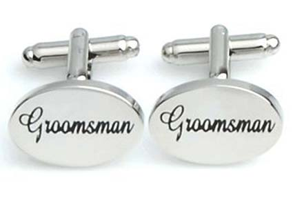Groomsman Silver Cuff Links