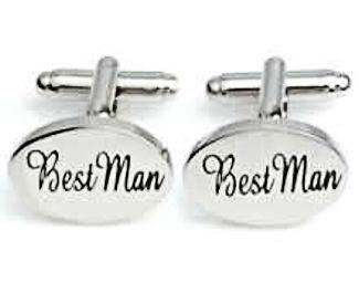 Best Man Silver Cuff Links