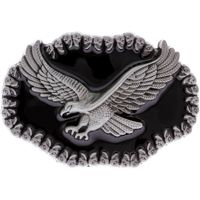 Pewter American Eagle Belt Buckle