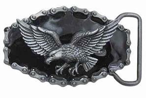 Pewter American Eagle Belt Buckle