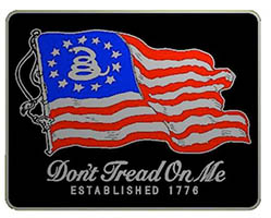 Don't Tread On Me Flag Belt Buckle