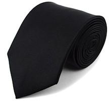 Men's Black Tie - Funeral Tie