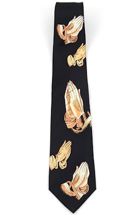 Men's Praying Hands Tie