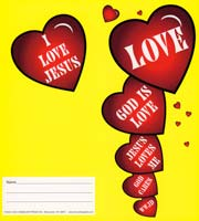 1046 Love Jesus Loves Coin Folders Image