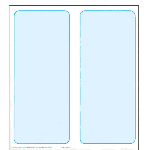 $10.00 Blank Coin Folder Without Name and Address (Pkg of 50)