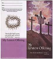 $10.00 Traditional Three Crosses Lenten Coin Folder (Pkg of 50)