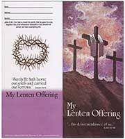 $10 Three Crosses Lenten Quarter Coin Folders (Pkg of 50)