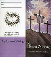 $10.00 Semi-Dated Three Crosses Lenten Coin Folder (Pkg of 50)