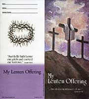 $10 Semi-Dated Three Crosses Lenten Quarter Coin Folders (Pkg of 50)