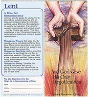 $10.00 Hands of God Lenten Coin Folder (Pkg of 50)