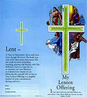 $10.00 Four Stations of the Cross Lenten Coin Folder (Pkg of 50)