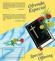 $10.00 Bible Special Offering Coin Folders (Pkg of 50)