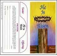 1070 5 dollar He Is Risen Easter Lenten Offering Folder