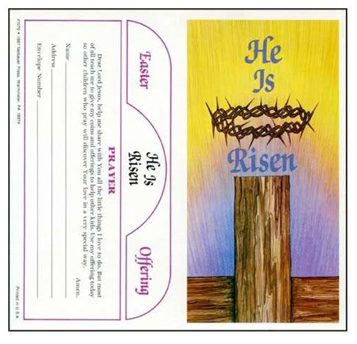 He Is Risen $5.00 Easter Lenten Coin Folder - inside