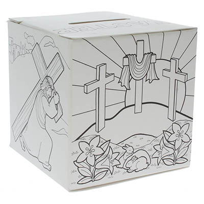 Easter Color It Box Religious (Pkg of 50)