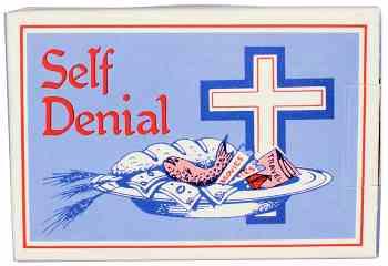 Church Self-Denial Donation Box (Pkg of 50)