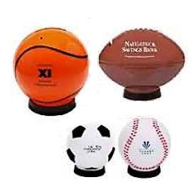 Football, Baseball Sports Banks Custom Imprint  150